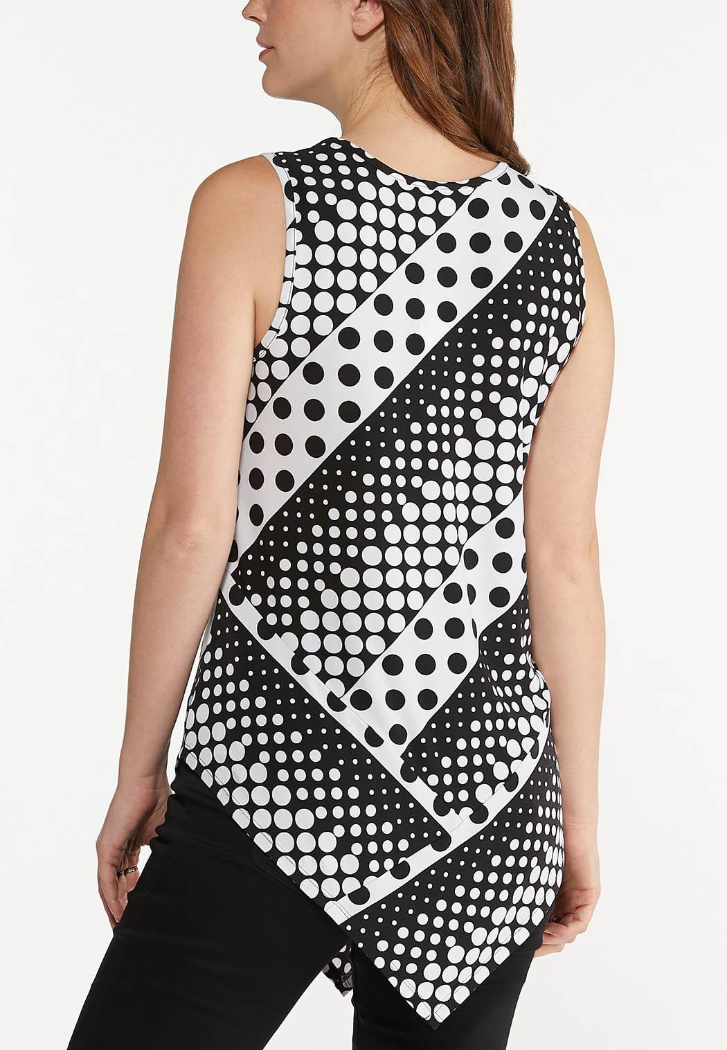 Contrast Polka Dot Tunic (Item #44551343)