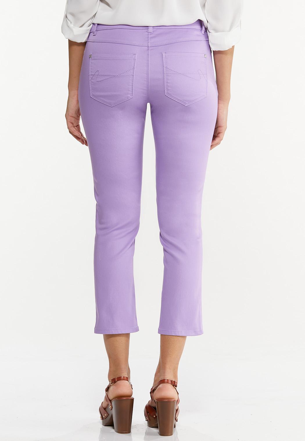 Cropped Lavender Skinny Jeans (Item #44551432)