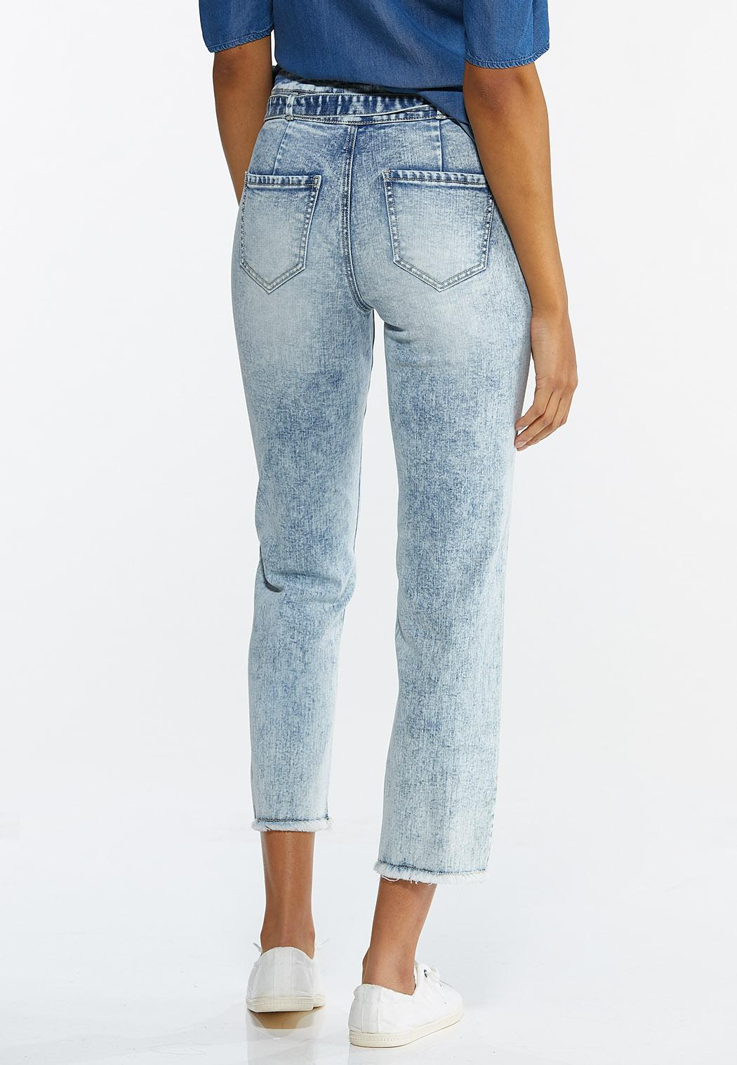 Belted Straight Leg Jeans (Item #44551780)