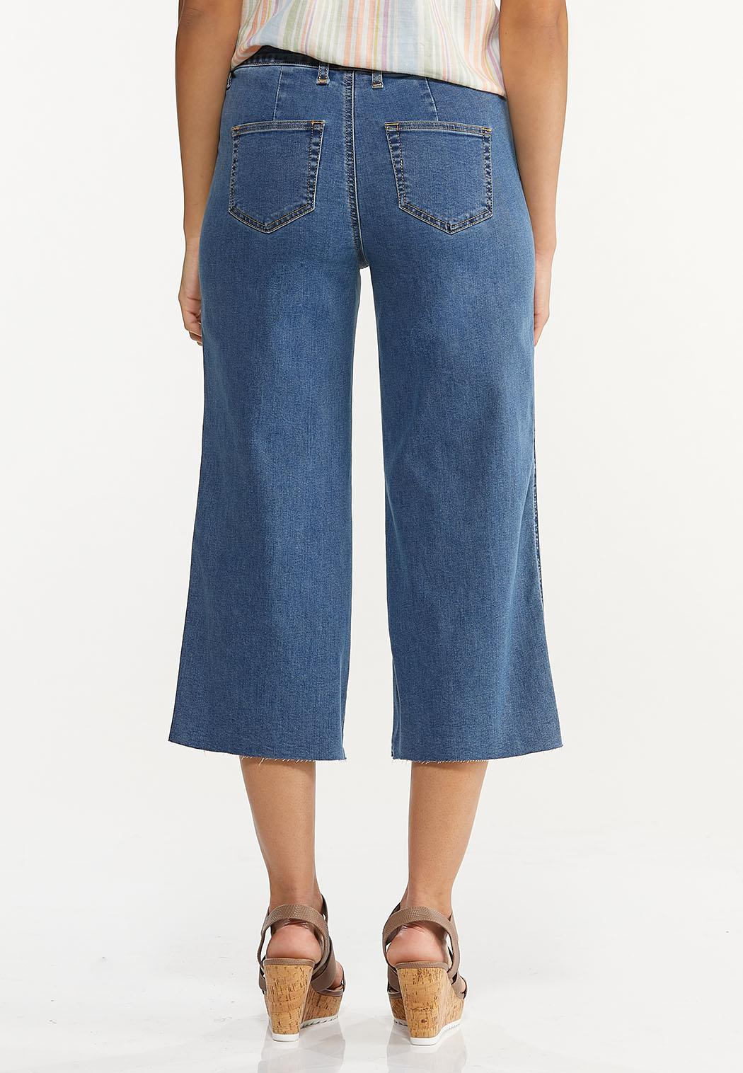 Cropped Wide Leg Jeans (Item #44551843)