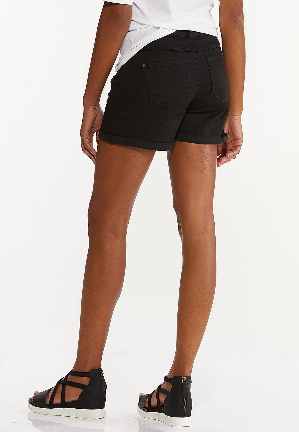 Black Denim Shorts (Item #44551920)