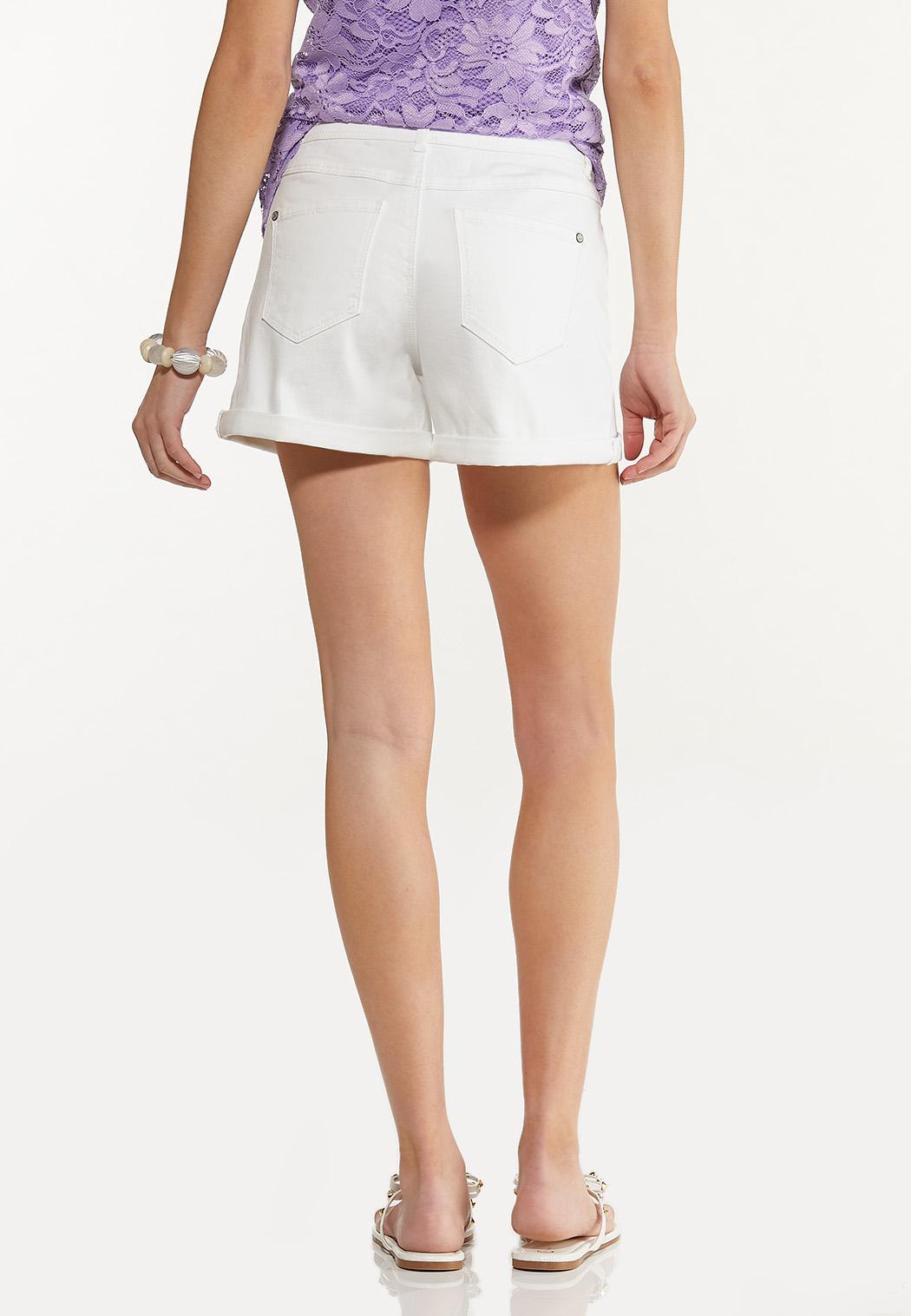White Denim Shorts (Item #44551956)