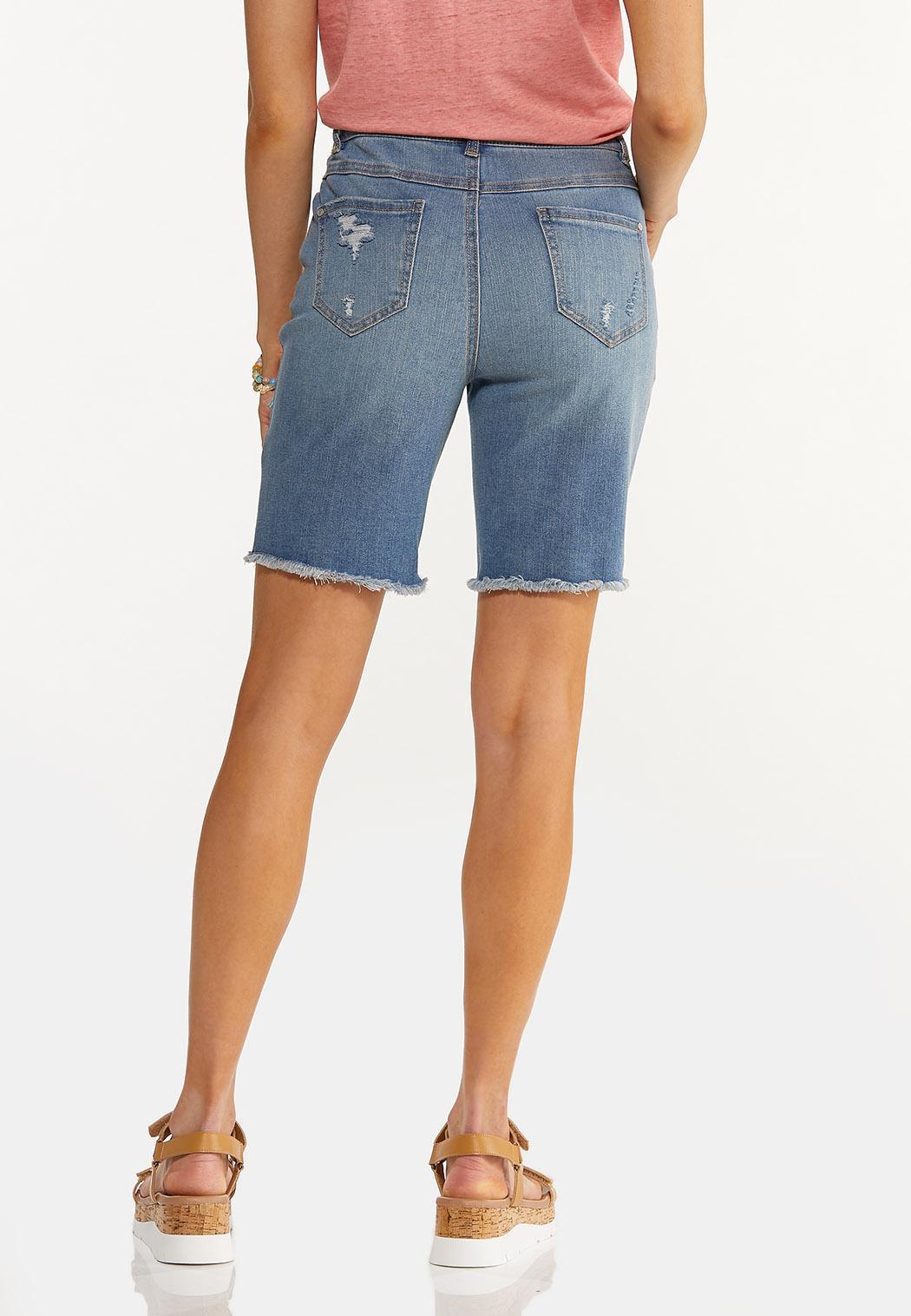 Distressed Denim Shorts (Item #44551987)
