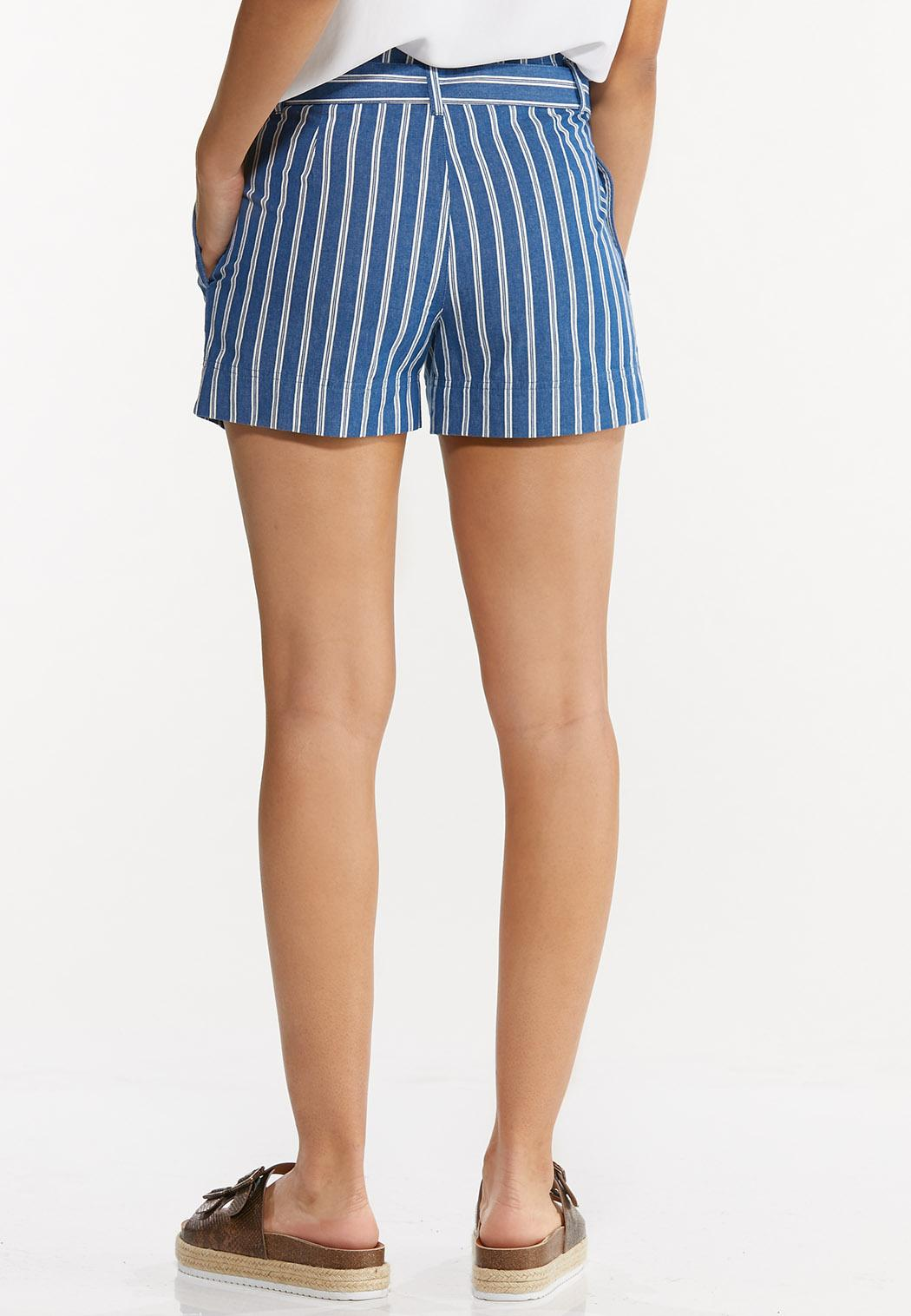 Stripe Denim Shorts (Item #44552017)
