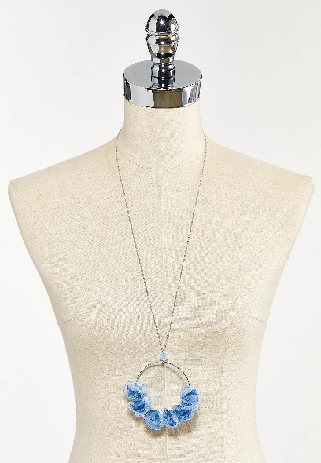 Chiffon Petal Pendant Necklace (Item #44552302)