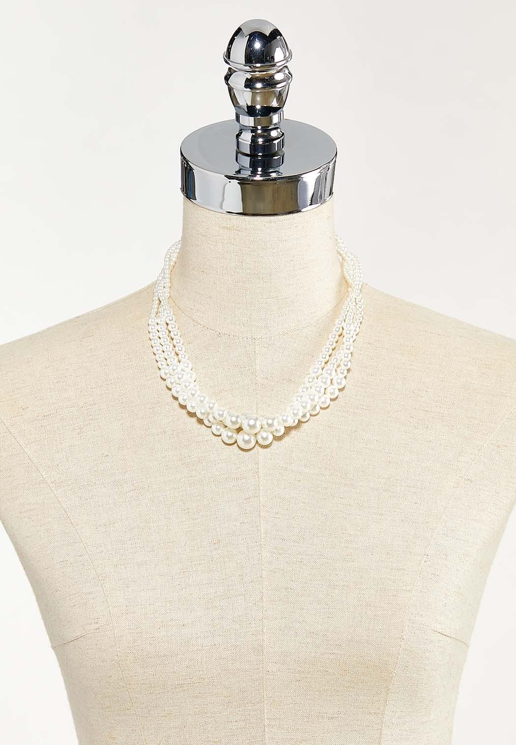 Twisted Pearl Necklace (Item #44552436)