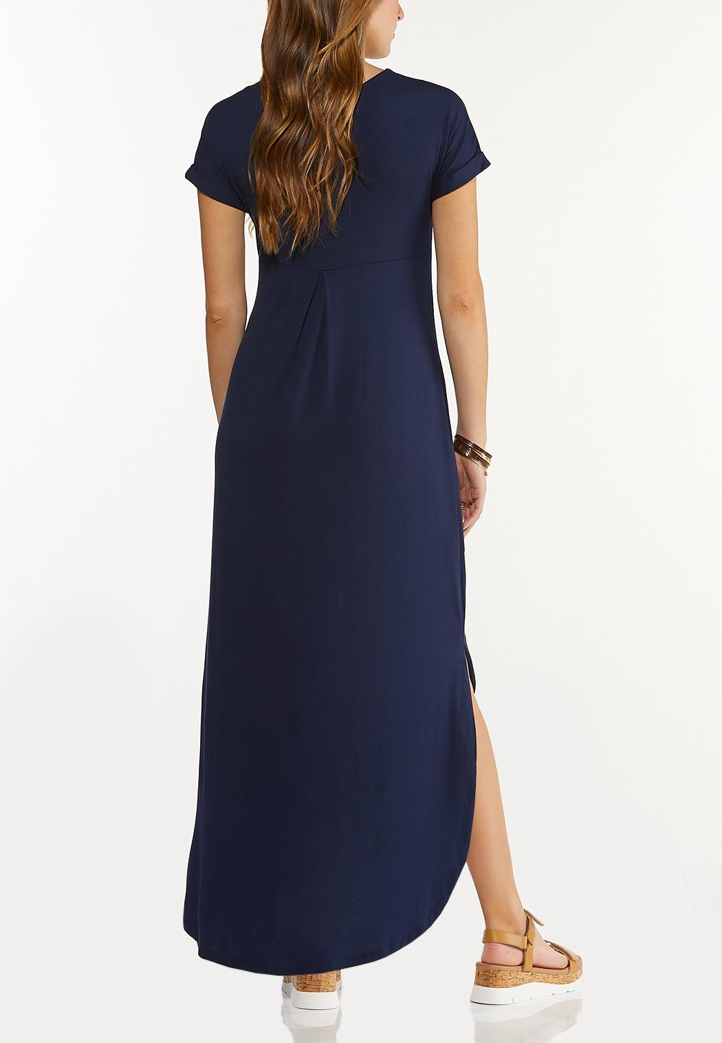 Plus Size Knotted Maxi Dress (Item #44552483)