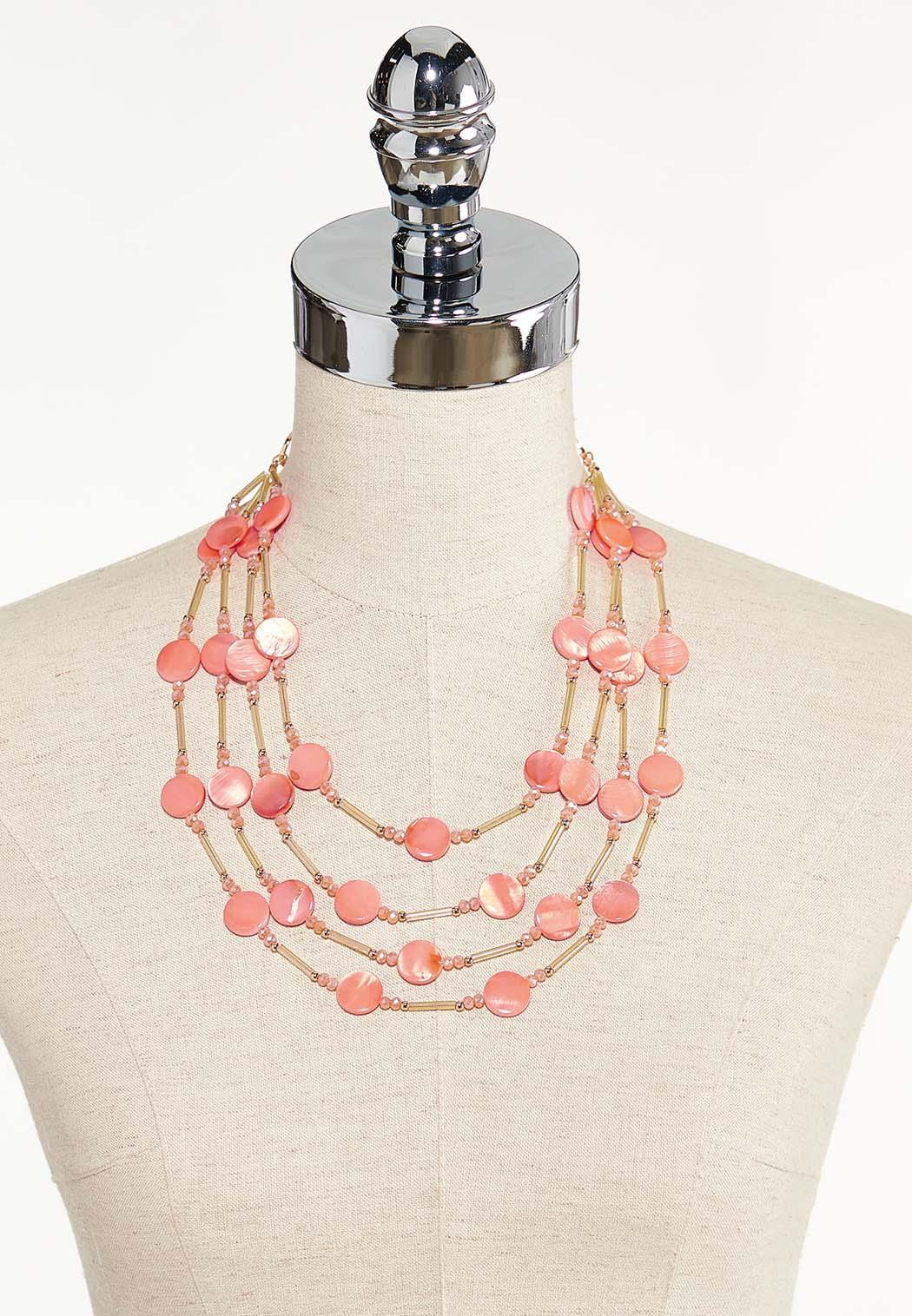 Floating Shell Layered Necklace (Item #44552537)