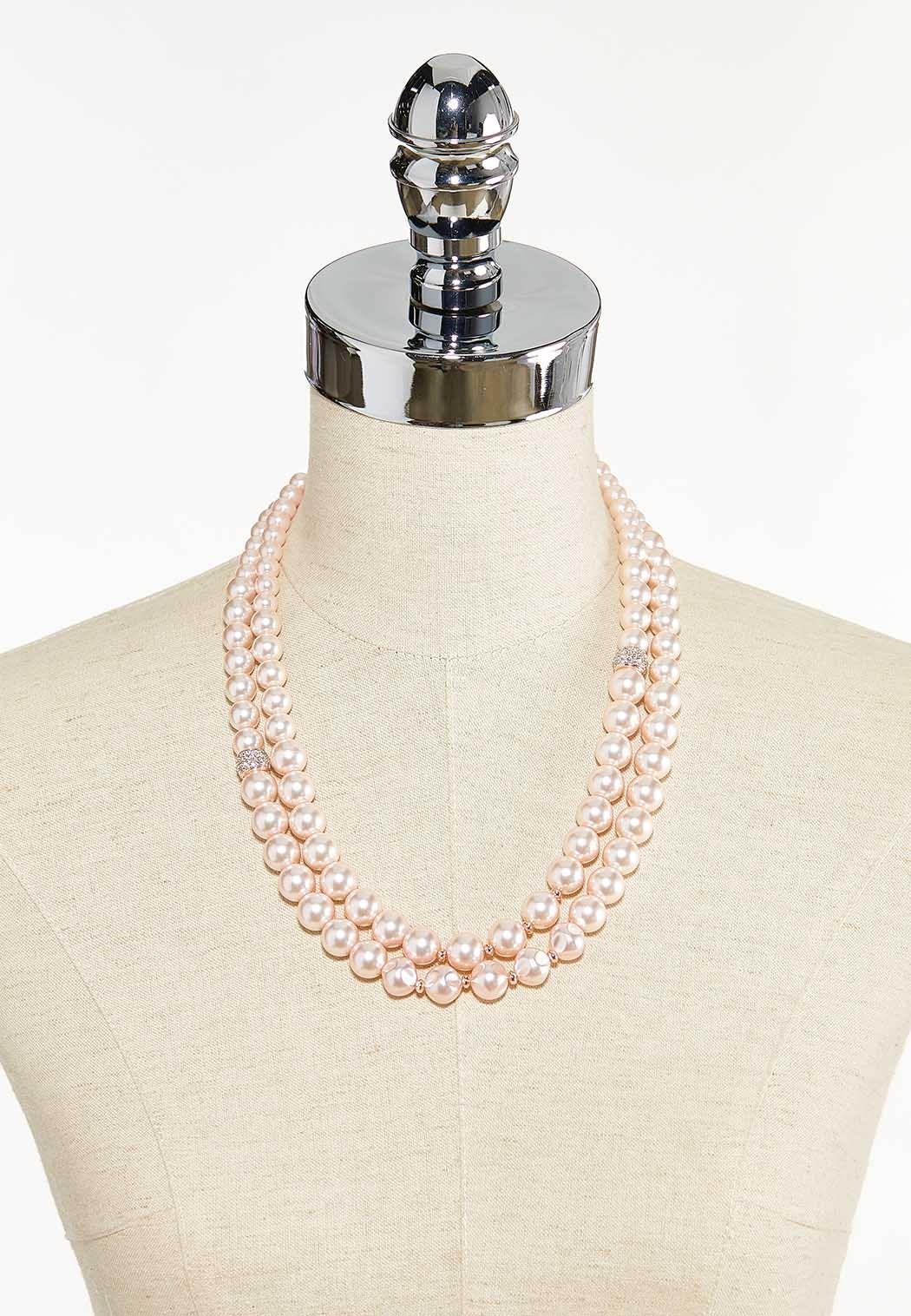 Rose Gold Pearl Necklace (Item #44552638)