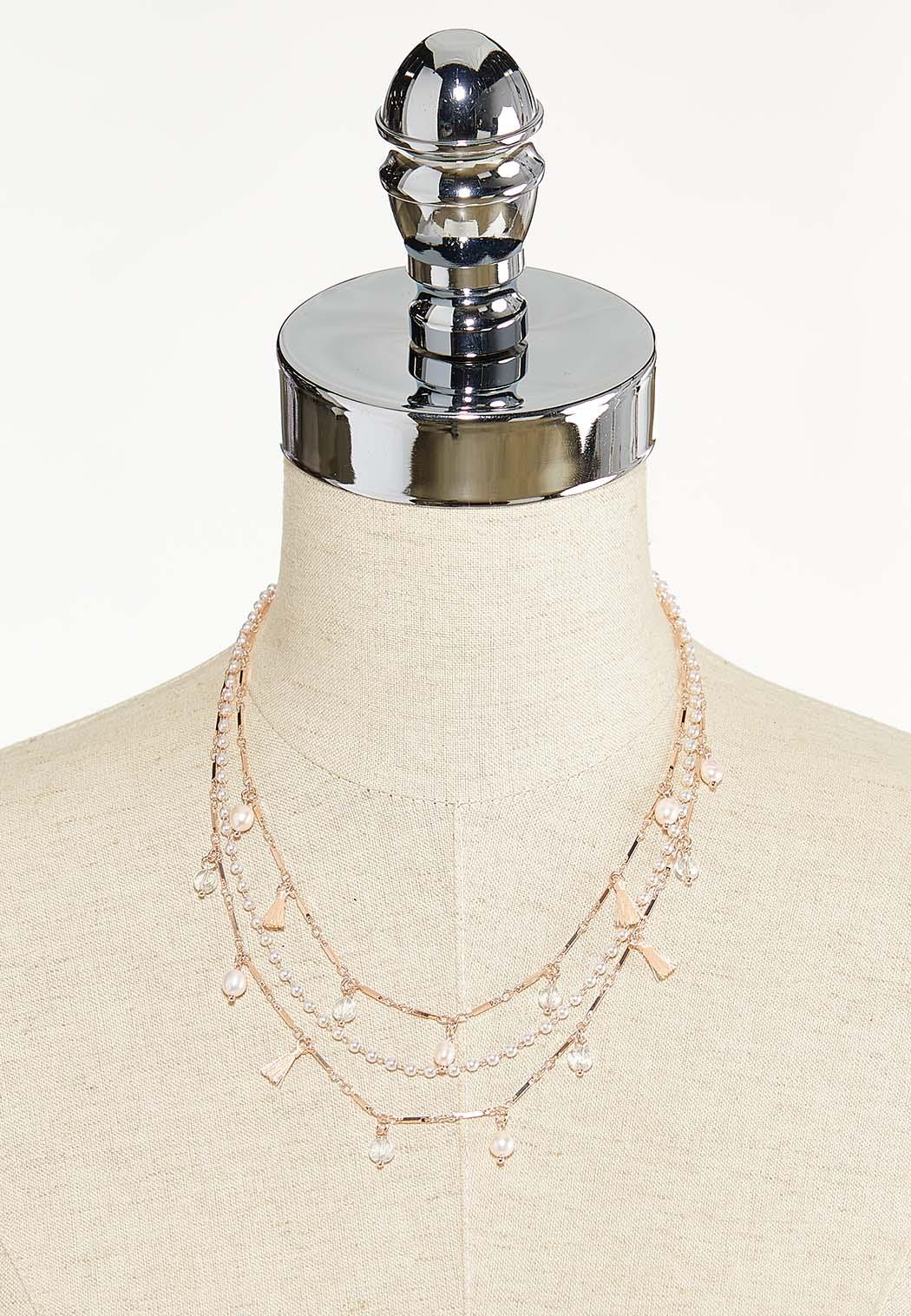 Triple Layer Pearl Detail Necklace (Item #44552749)