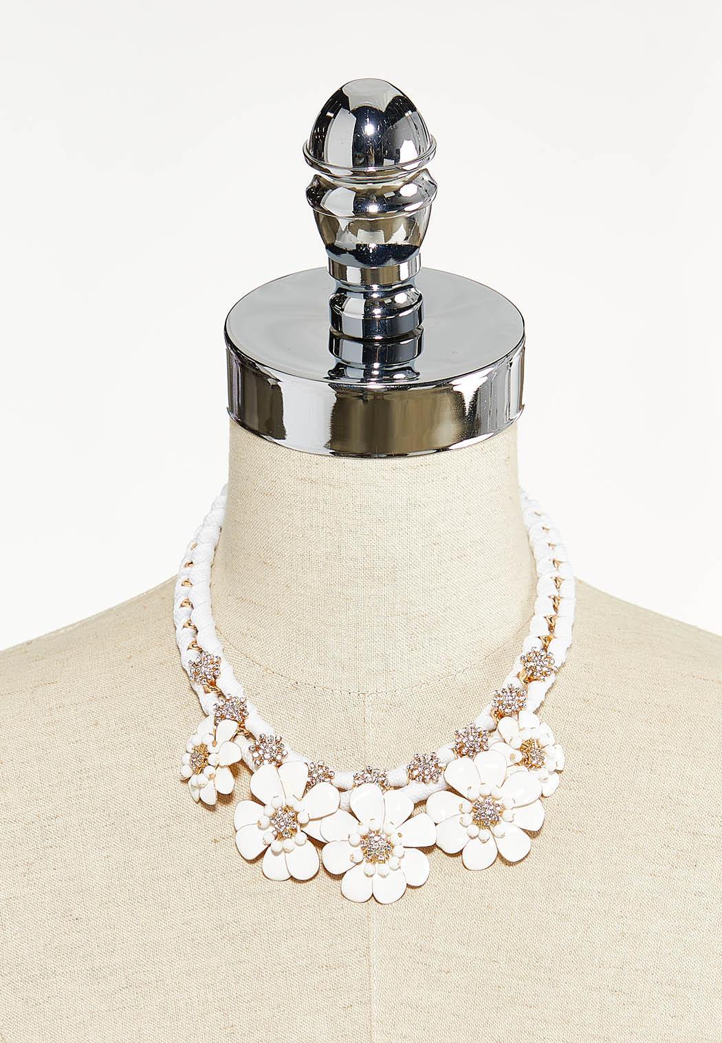 Matte Flower Shoelace Necklace (Item #44553308)