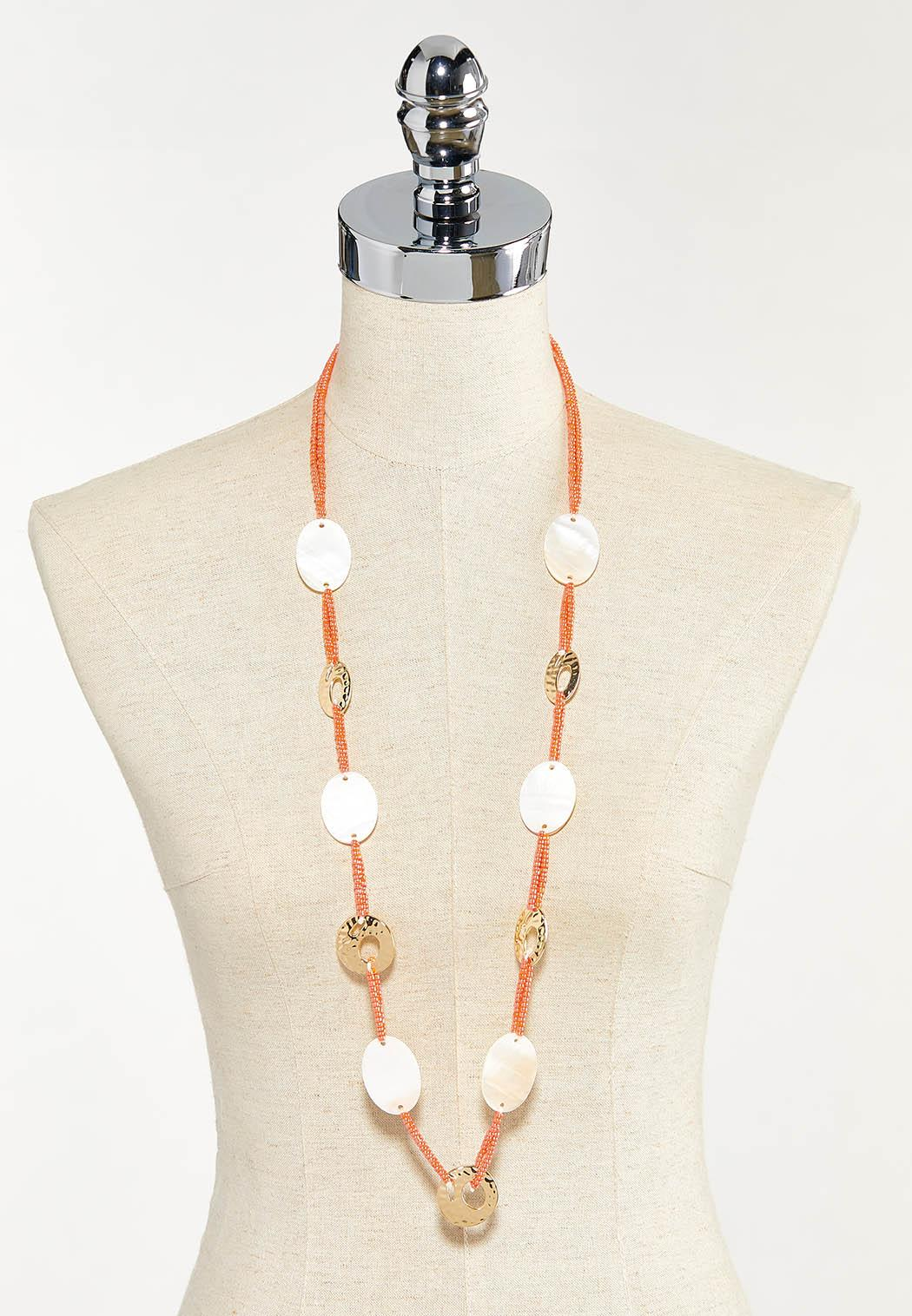 Shell Seed Cord Necklace (Item #44553313)