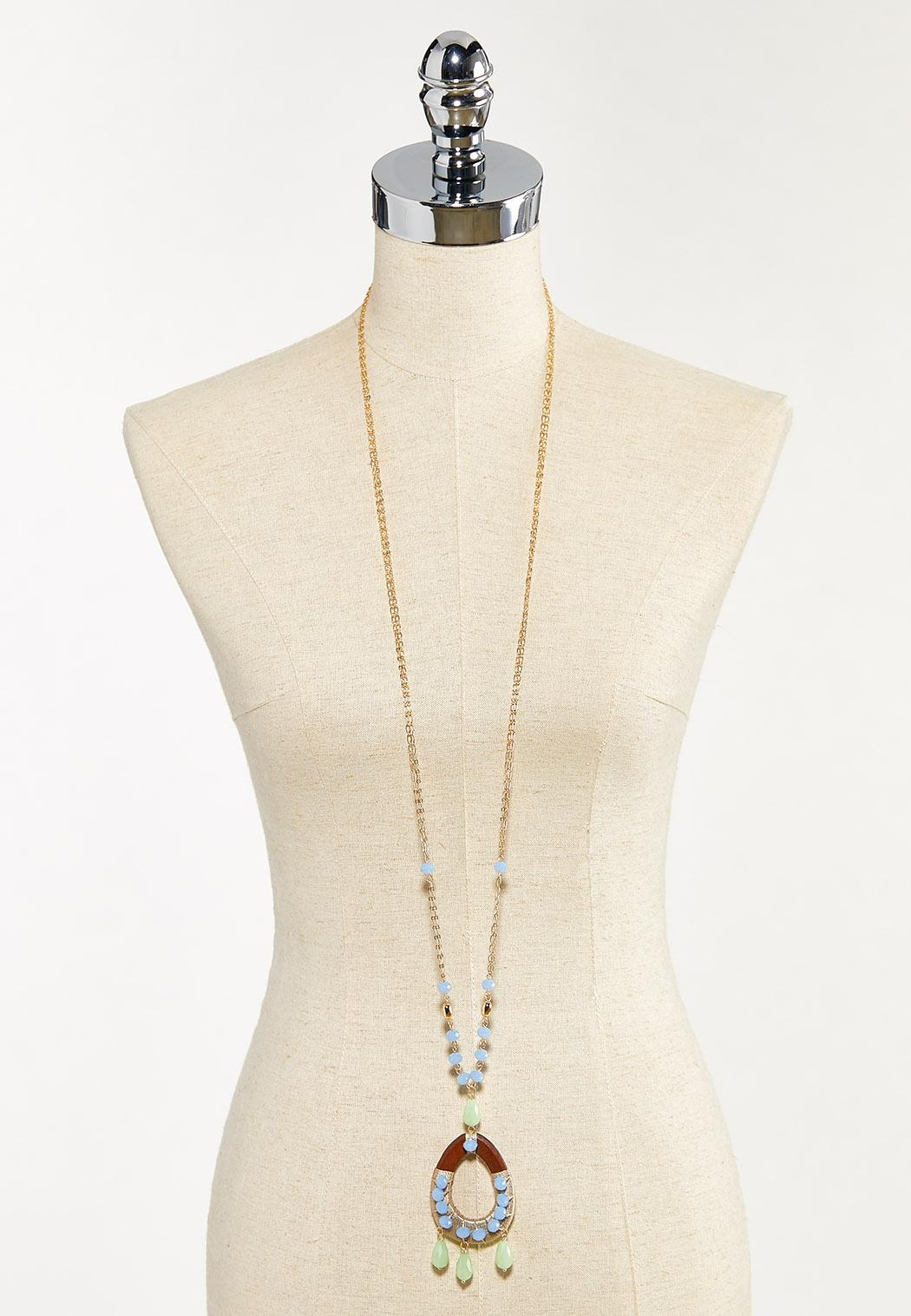 Extra Long Beaded Pendant Necklace (Item #44553315)