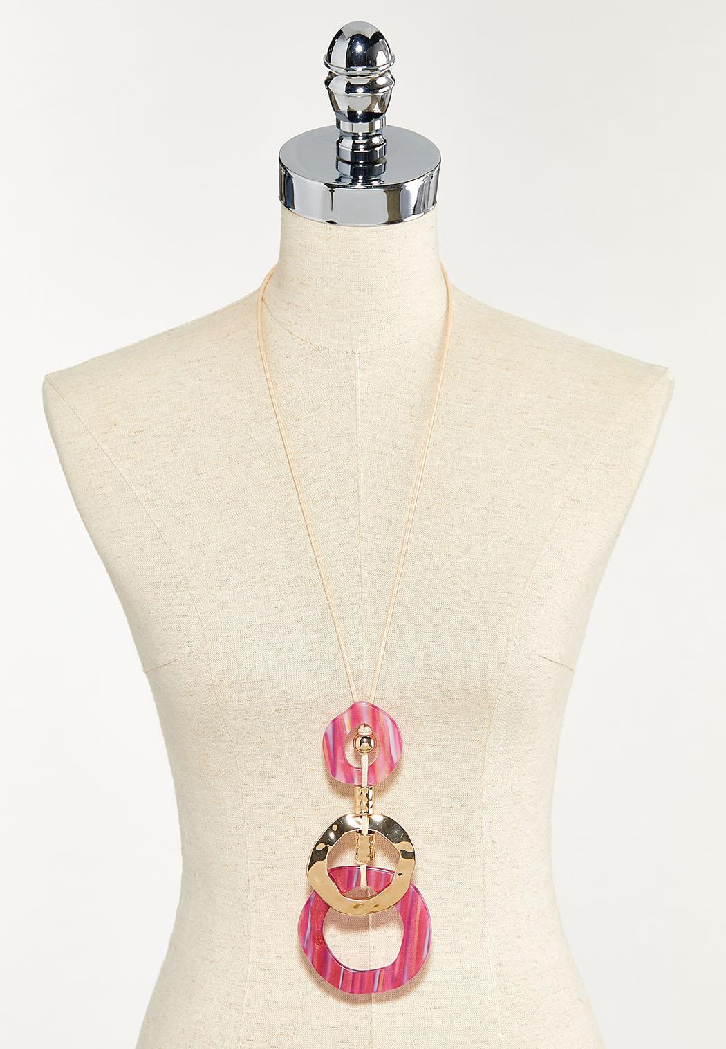 Corded Resin Pendant Necklace (Item #44553390)