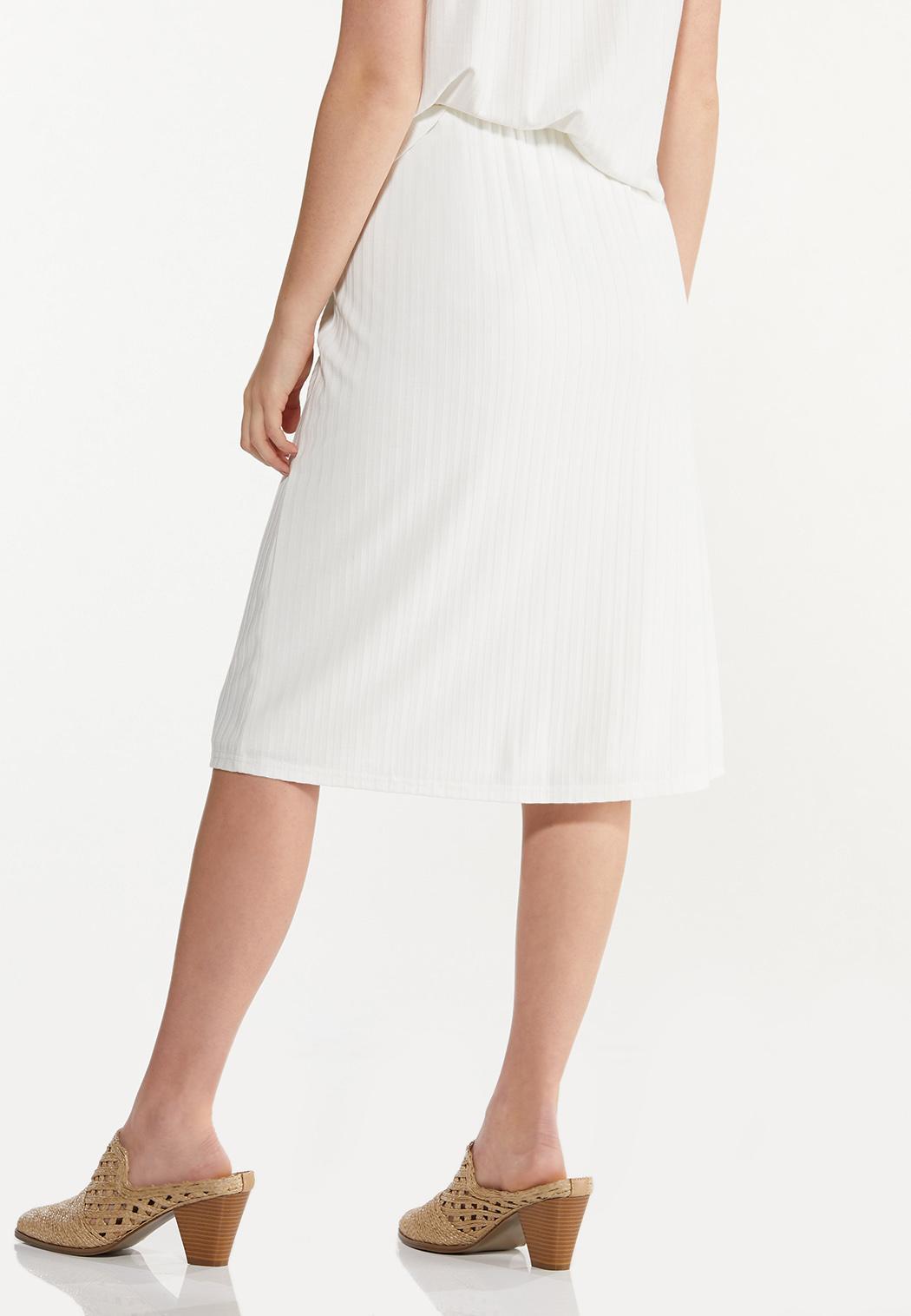 Ivory Ribbed Skirt (Item #44553606)