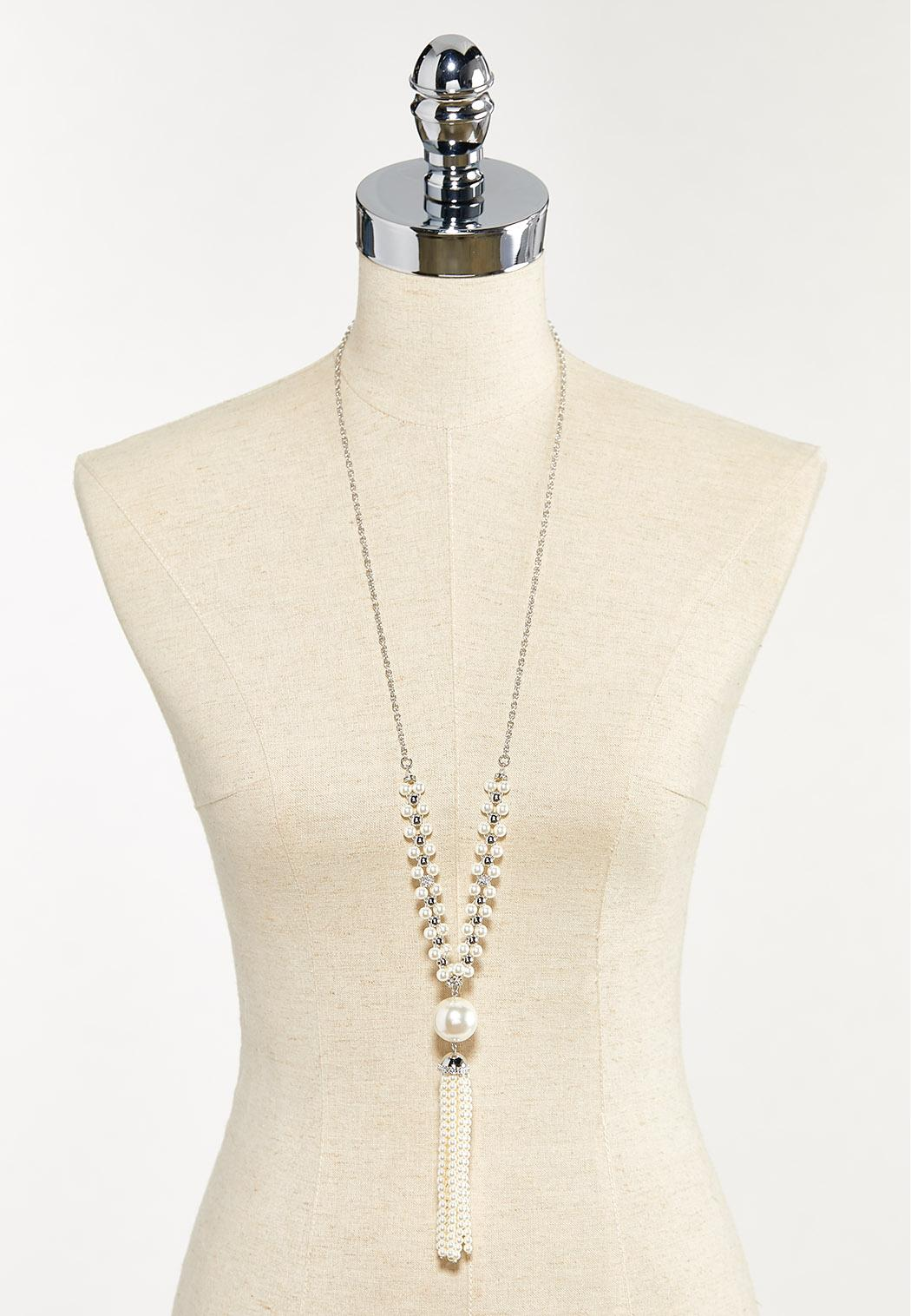 Pearl Tassel Necklace (Item #44553672)