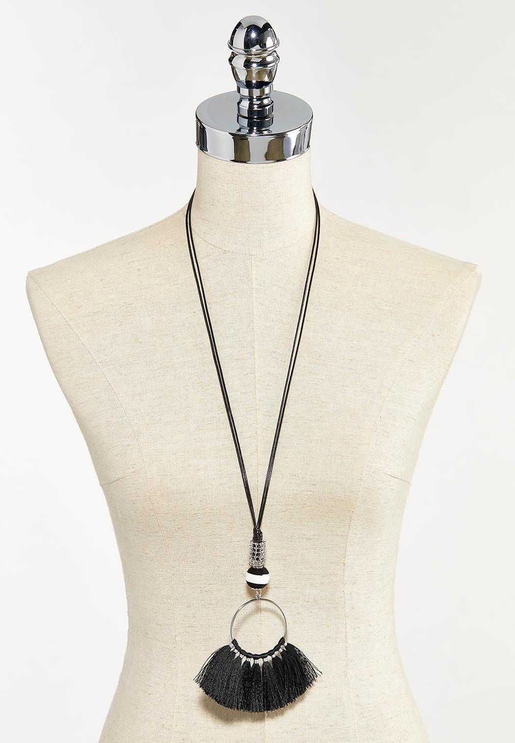 Fringe Tassel Pendant Necklace (Item #44553814)