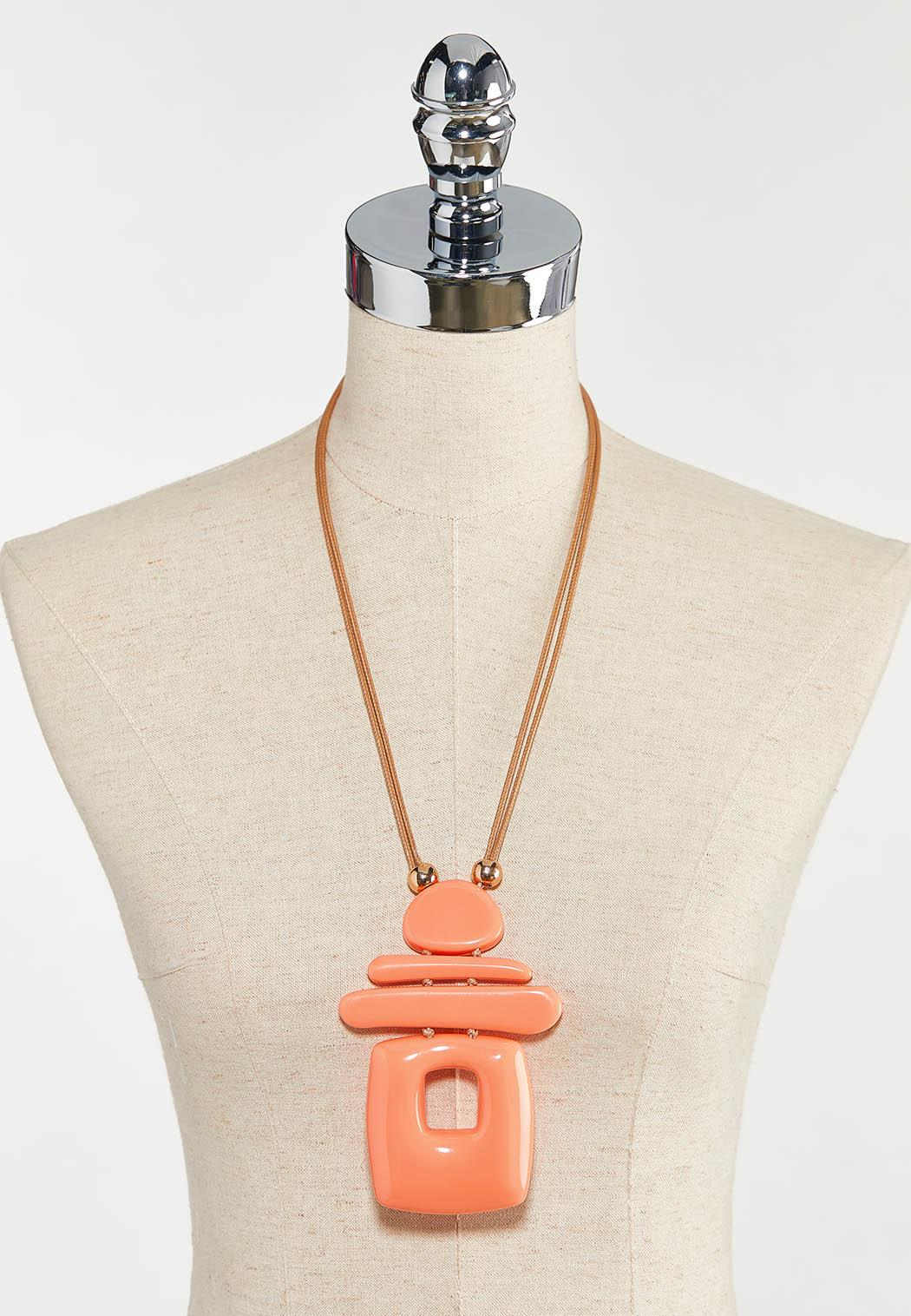 Geo Shaped Resin Necklace (Item #44554484)