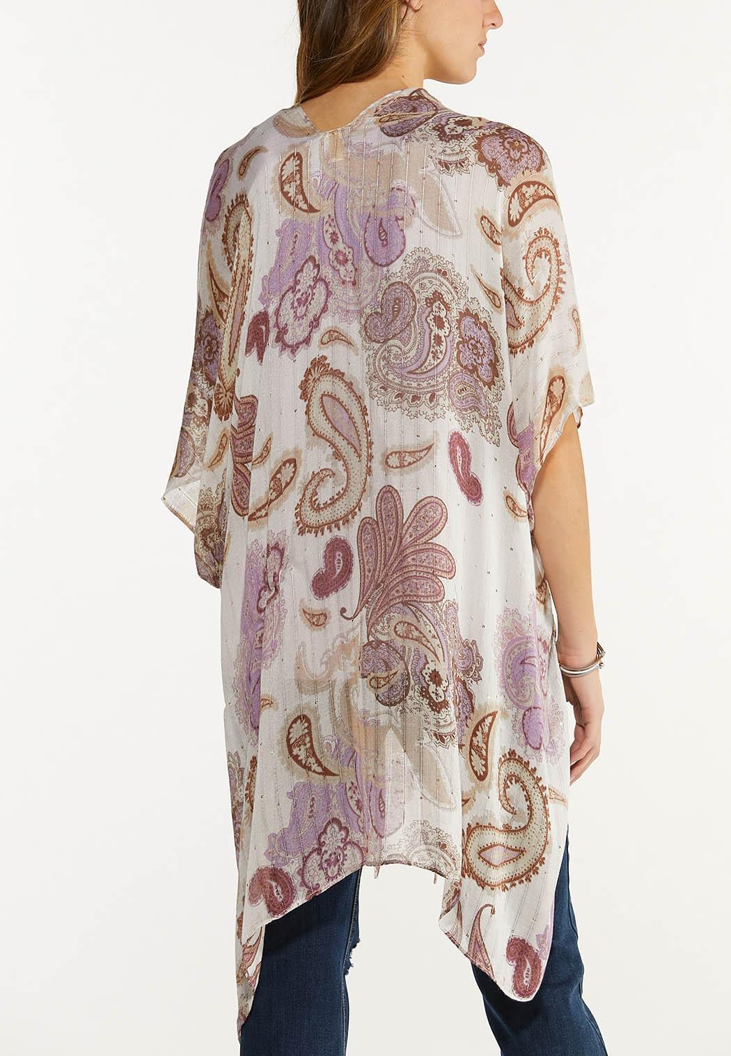 Paisley Sequin Thread Kimono (Item #44554688)