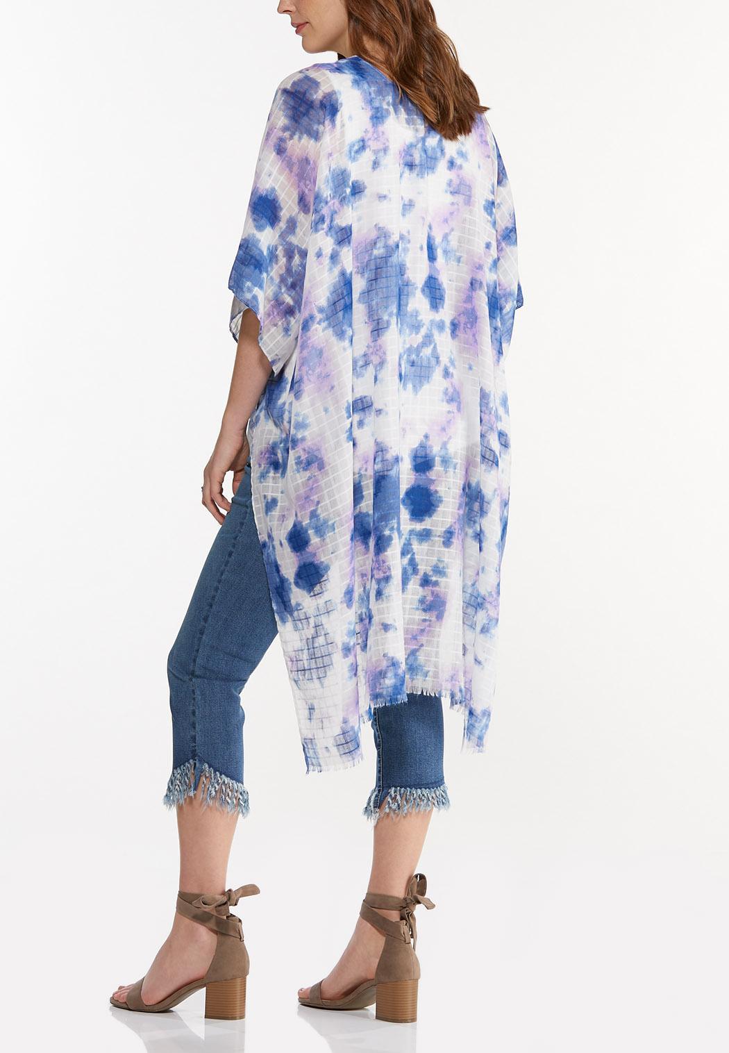 Watercolor Tie Dye Kimono (Item #44554695)