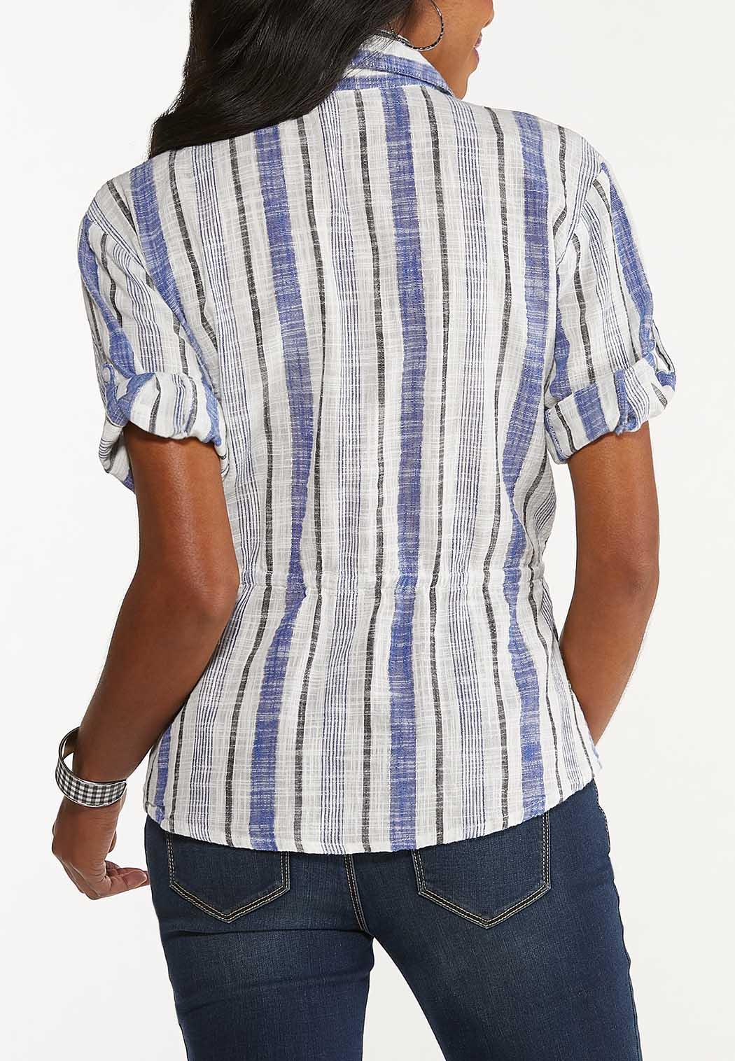 Stripe Drawstring Top (Item #44555392)