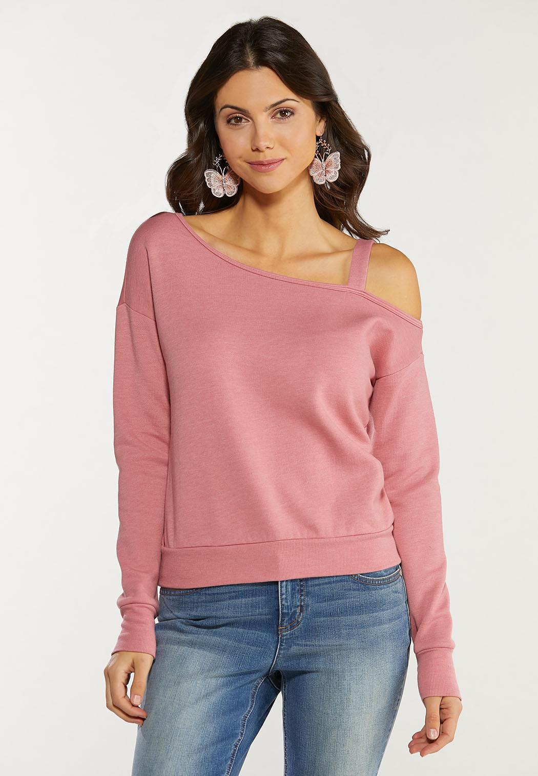 Plus Size Cold Shoulder Sweatshirt (Item #44556088)