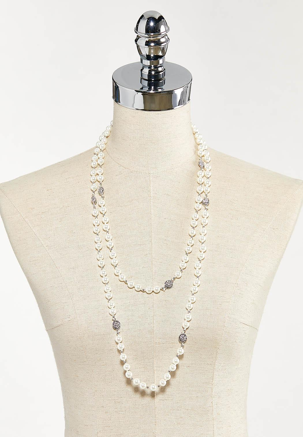 Layered Pearl Necklace (Item #44556869)