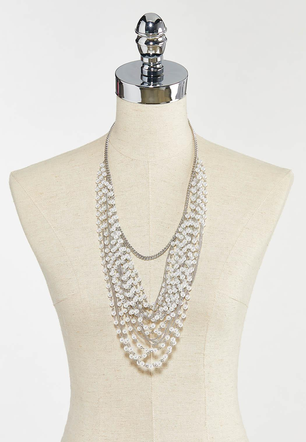 Pearl Chain Swag Necklace (Item #44556875)