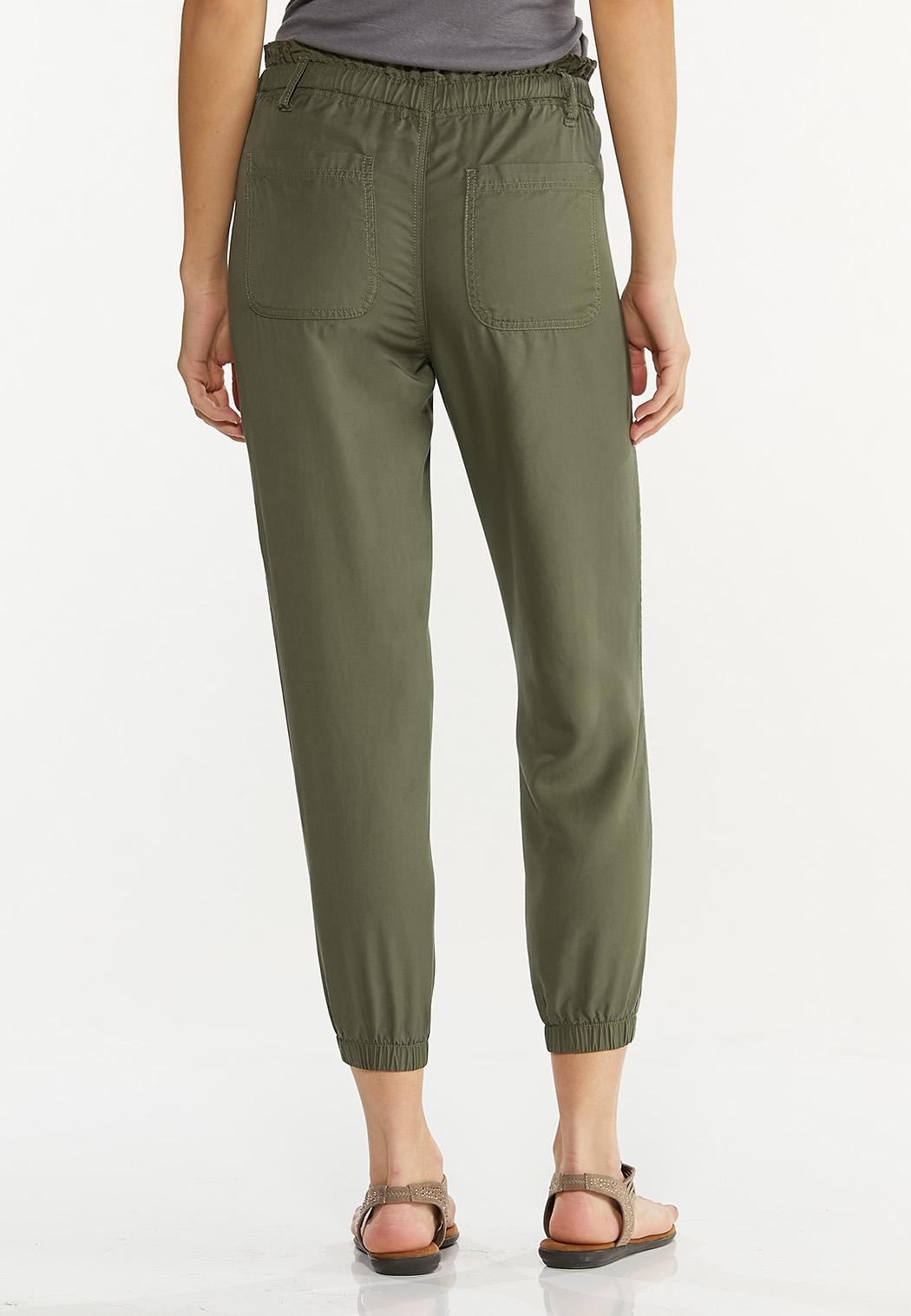Button Front Joggers (Item #44557164)