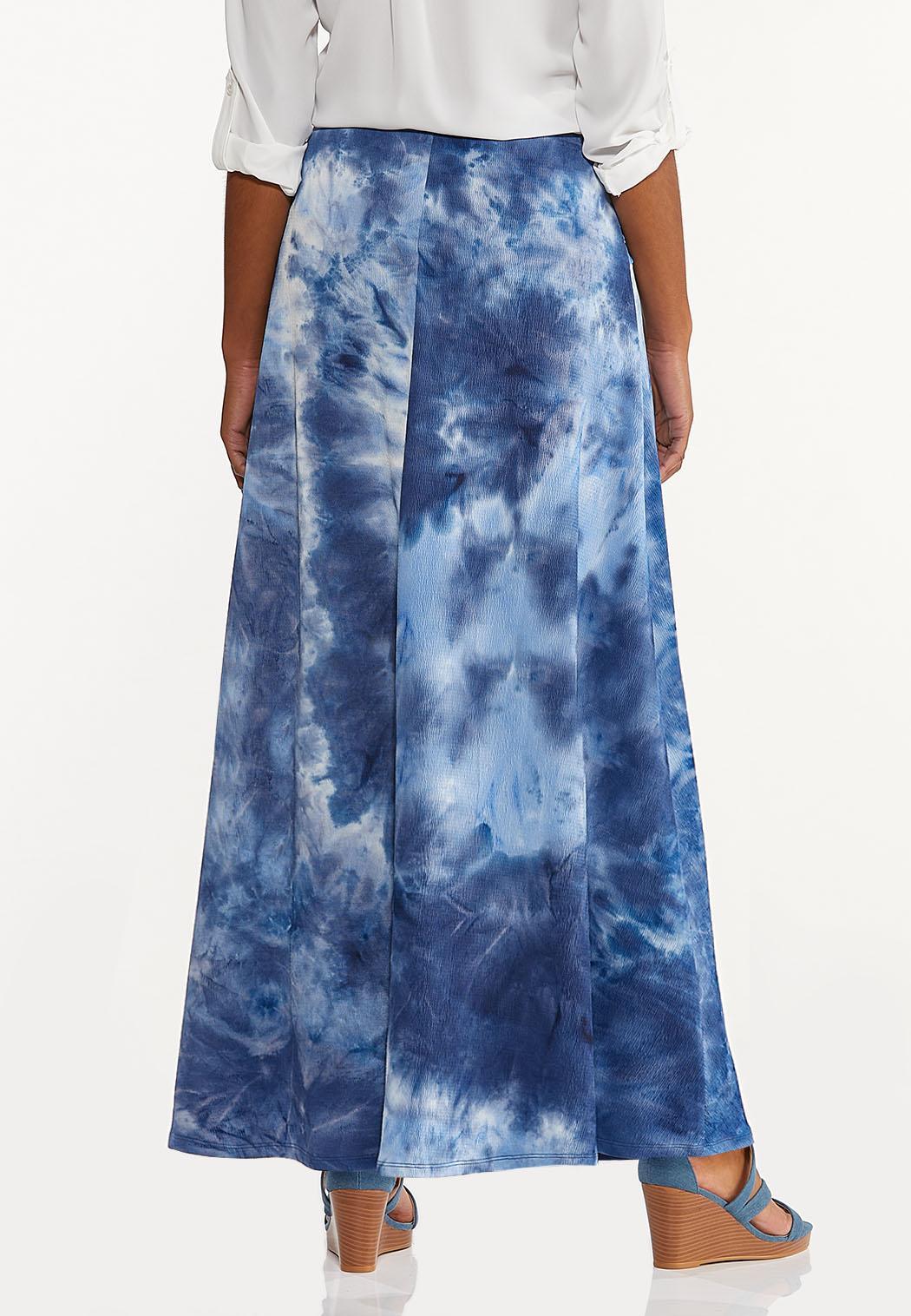Plus Size Tie Dye Maxi Skirt (Item #44557650)