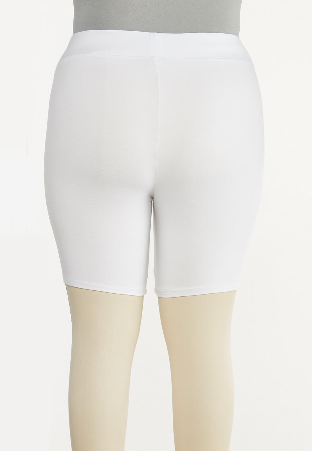 Plus Size Solid Biker Shorts (Item #44558233)