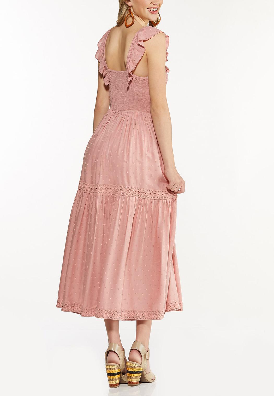 Plus Size Smocked Blush Midi Dress (Item #44558511)