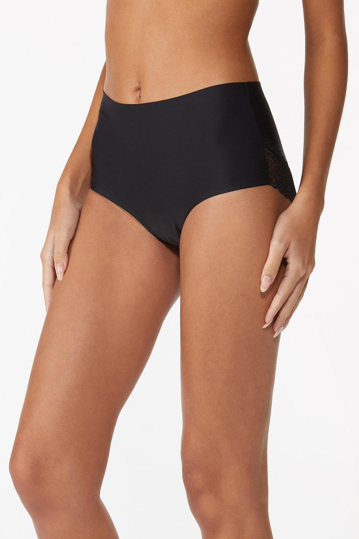 Black Scalloped Seamless Panty (Item #44559293)