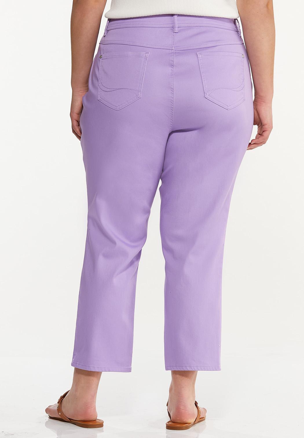 Plus Size Cropped Lavender Skinny Jeans (Item #44560445)