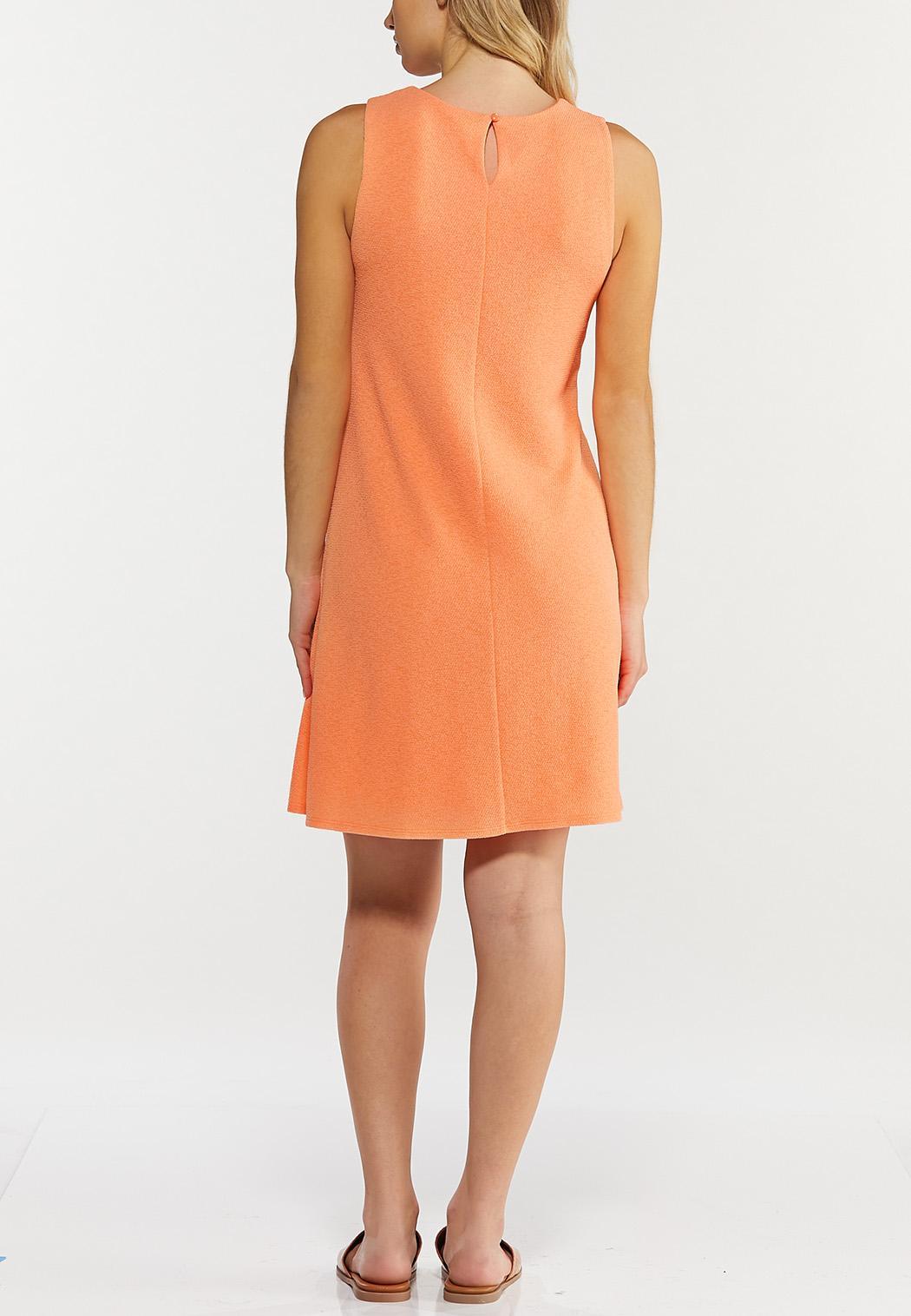 Plus Size Textured Swing Dress (Item #44560493)