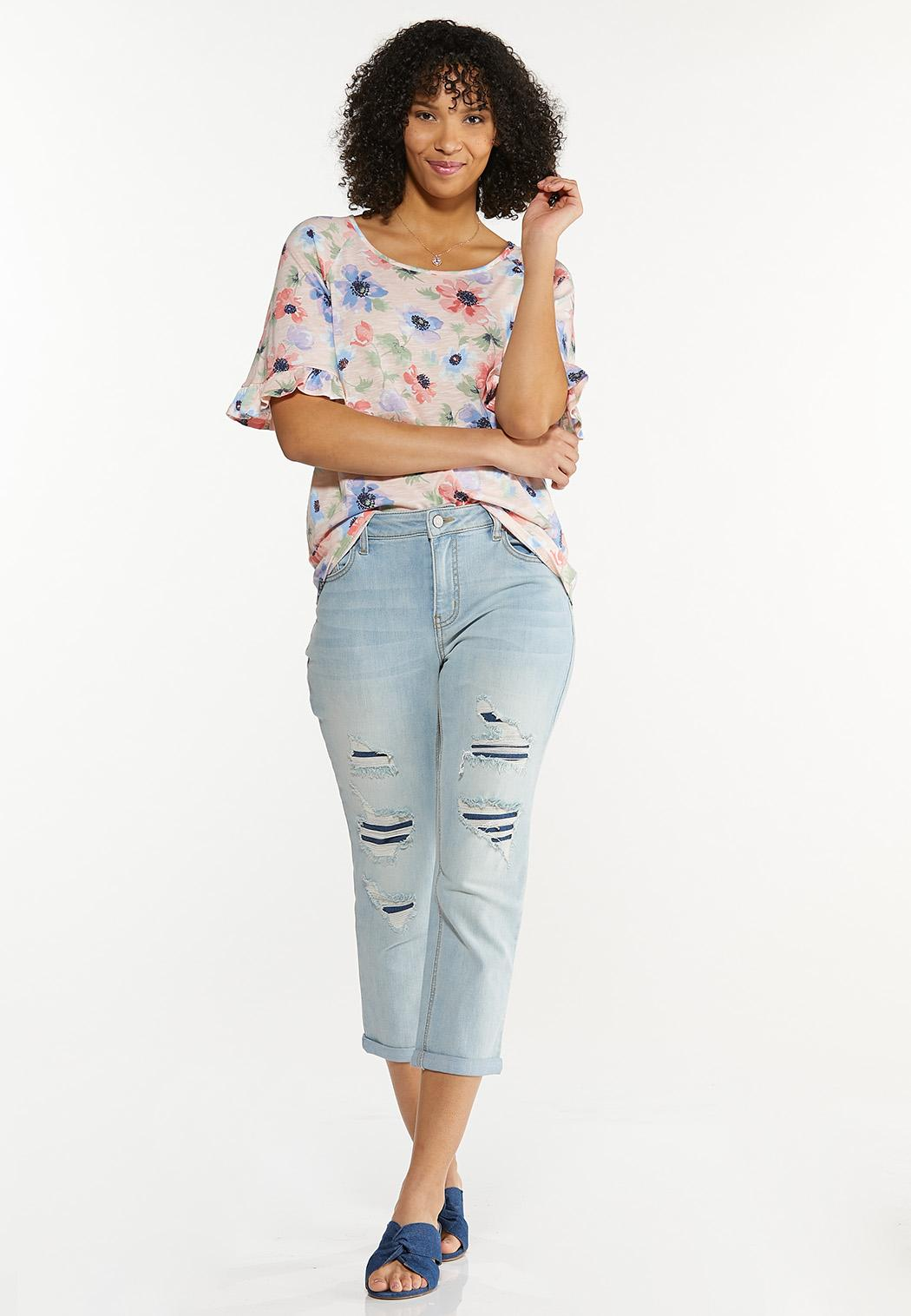 Plus Size Pink Floral Top (Item #44561351)