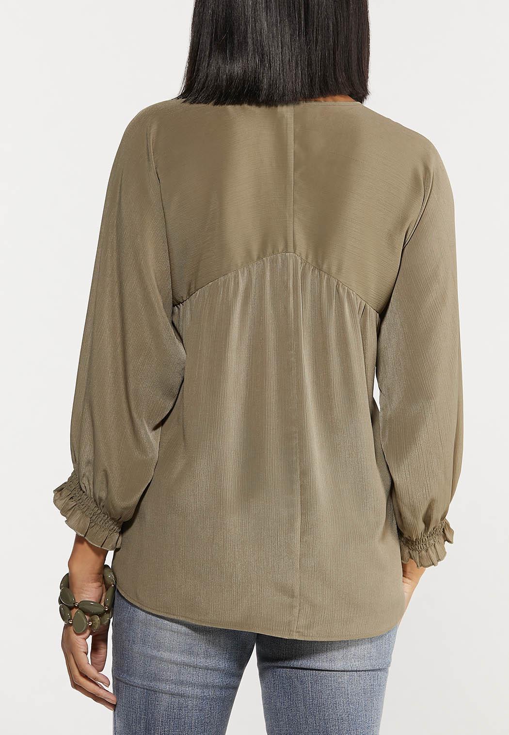 Smocked Sleeve Top (Item #44561668)