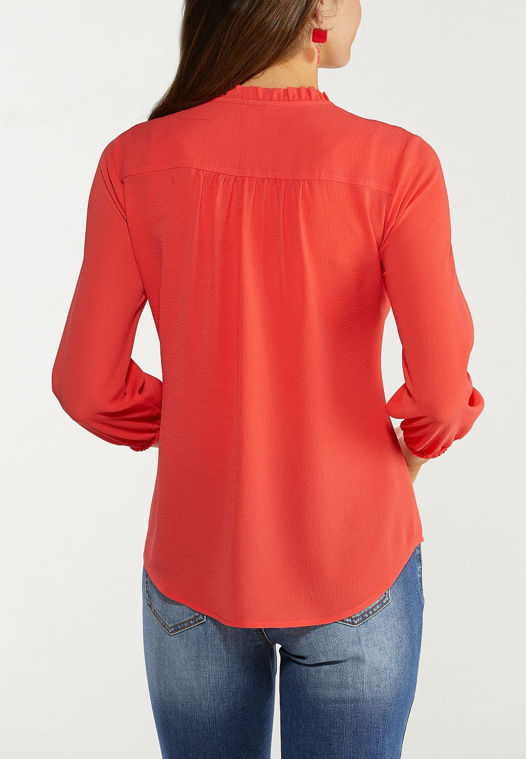 Spice Ruffled Button Top (Item #44561937)