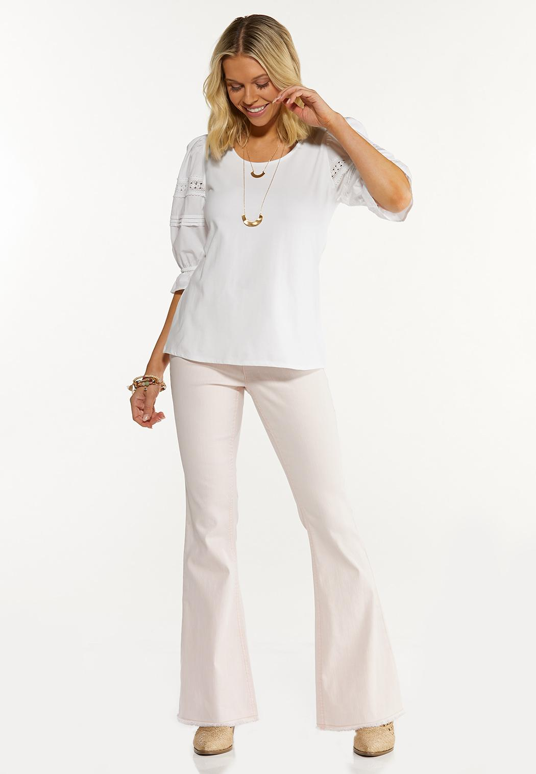 Lace Puff Sleeve Top (Item #44562649)