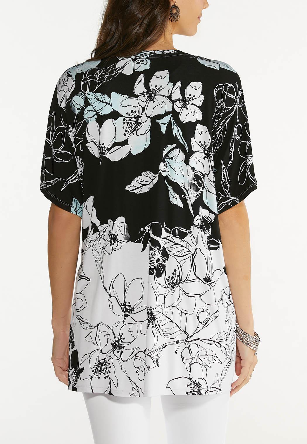 Plus Size Soft Floral Kimono (Item #44562819)