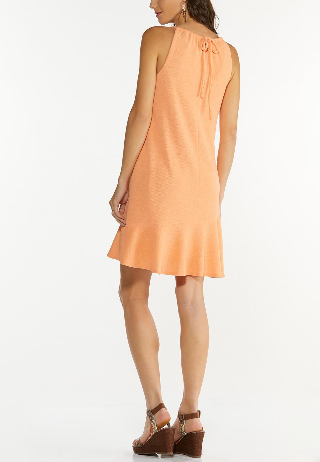 Plus Size Textured Halter Swing Dress (Item #44565131)