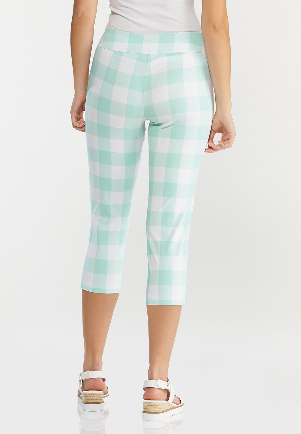 Cropped Mint Gingham Pants (Item #44566034)