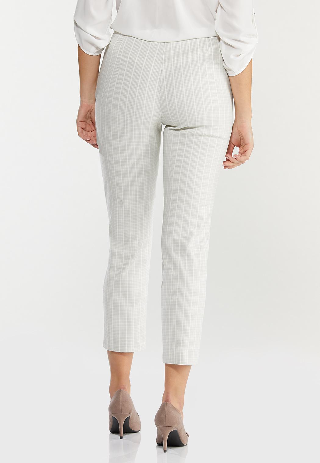 Neutral Plaid Ankle Pants (Item #44566610)