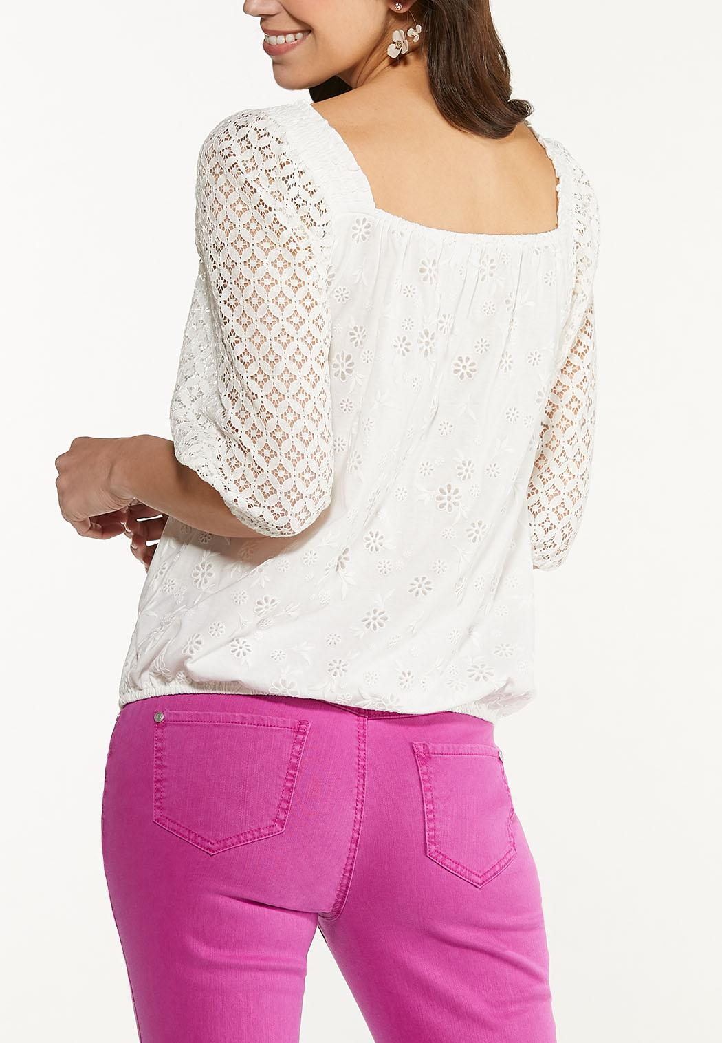 Crochet Tie Waist Top (Item #44567473)