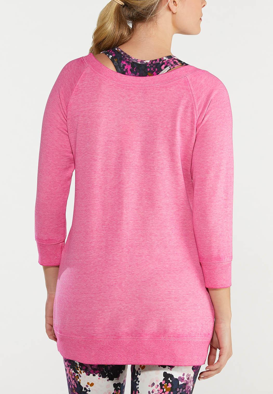 Plus Size Solid Brushed Color Sweatshirt (Item #44567568)