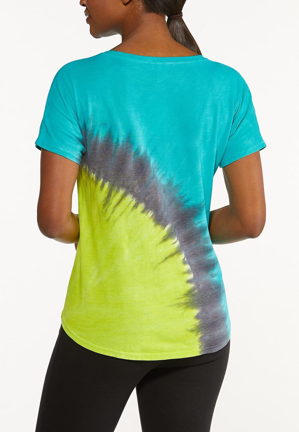 Plus Size Tie Dye Tee Shirt (Item #44567866)