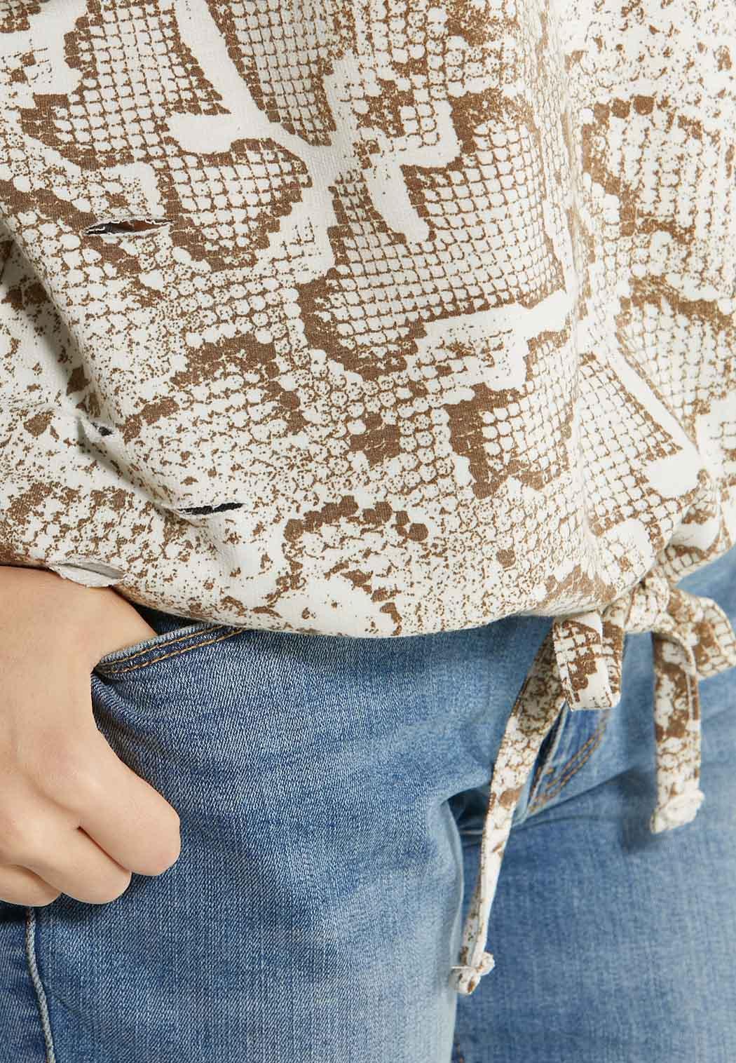 Animal Tie Waist Sweatshirt (Item #44568200)