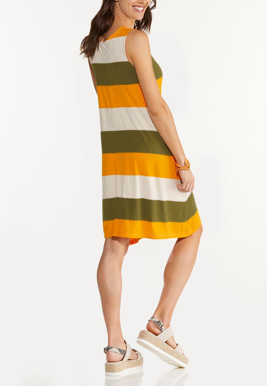 Plus Size Citrus Colorblock Dress (Item #44568410)