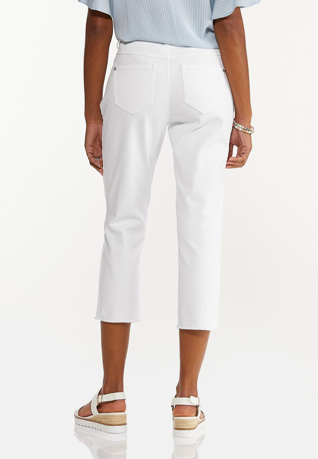 White Cropped Girlfriend Jeans (Item #44568474)