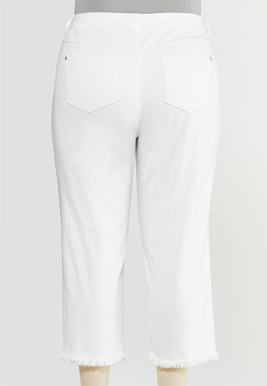 Plus Size Frayed High-Rise Jeans (Item #44568671)